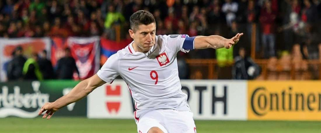 El combinado polaco ganó el duelo ante Armenia 1-6. AFP/Archivo