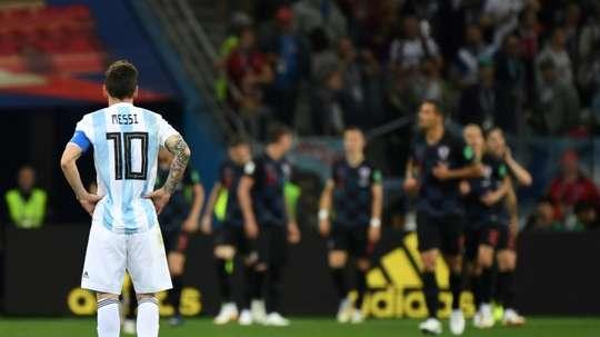 Messi pela Argentina só em 2019. AFP