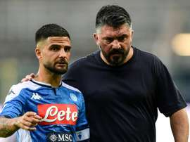 Napoli's Insigne is out injured for a month. AFP