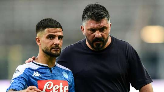 Lorenzo Insigne starts for Napoli despite getting injured v Lazio. AFP