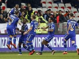 El Bastia descenderá dos categorías en la misma temporada. AFP
