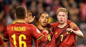 Bélgica domina una vez más. AFP