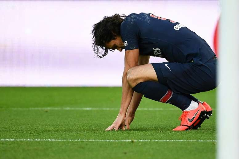 Cavani has had his Range Rover stolen. AFP