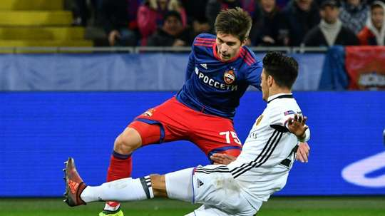 Timur Zhamaletdinov scored a brace as CSKA marched to victory. AFP