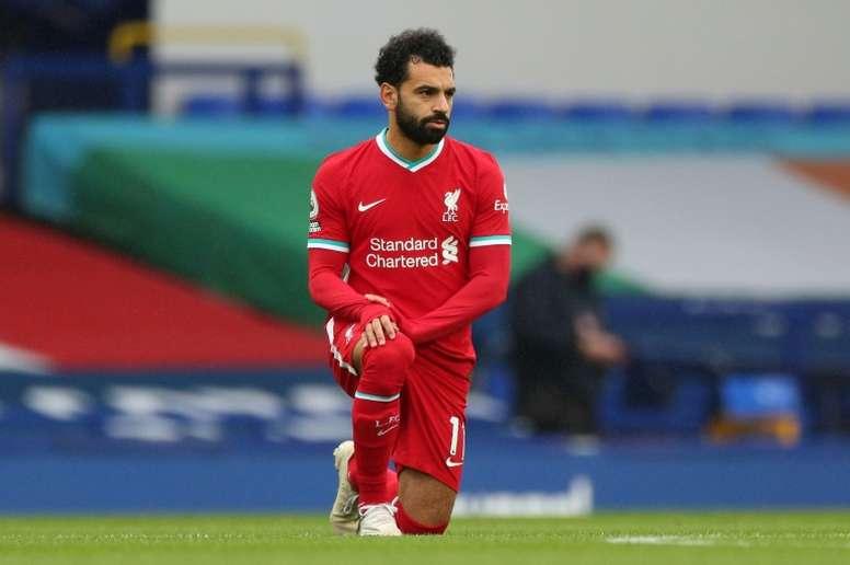 Salah envió una ambulancia a su pueblo natal. AFP