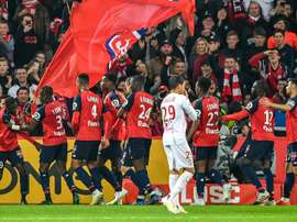 Lille celebrate yet another Nicolas Pepé goal. AFP