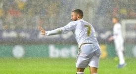 Hazard no llegó demasiado bien de forma al Madrid. AFP
