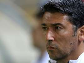 Greeces Kostas Tsanas, pictured on November 18, 2014, is named as interim coach of the full national team to replace Uruguayan Sergio Markarian