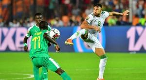 Le championnat sénégalais aussi arrêté. AFP