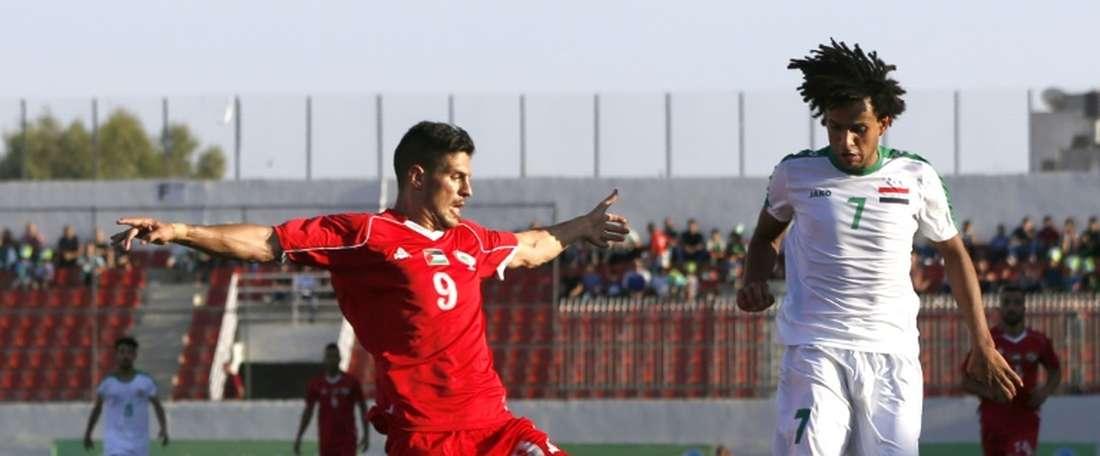 Palestina logró un empate contra pronóstico ante Irán. AFP/Archivo
