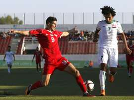 Iraq played in Palestine for the first time. AFP