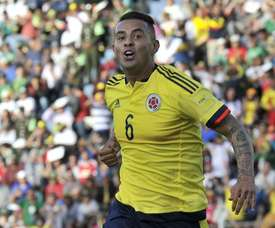 Cardona in action for Colombia. AFP