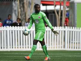 Goalie Bill Hamid of DC United sets for play against the Montreal Impact on February 16, 2013 in Orlando, Florida