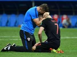 Rakitic no siempre jugó en las filas de Croacia... AFP