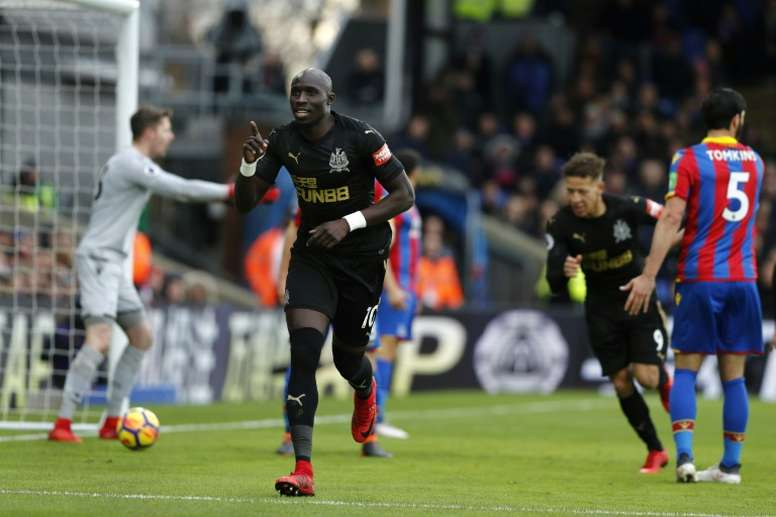 Diame is on a good run of form. AFP