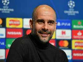 Guardiola has hit back at Tebas. AFP