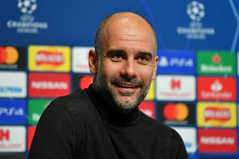 Guardiola falou sobre García e o jogo contra o Real. AFP