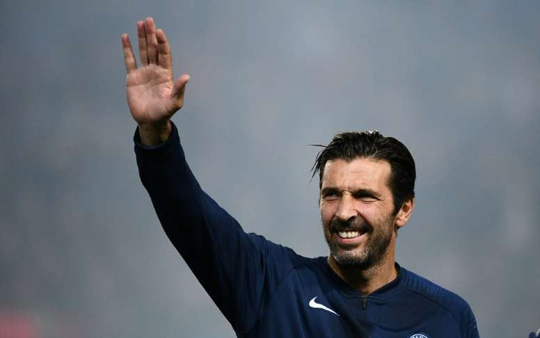 Gianluigi Buffon spent just one season at PSG, where he played on 25 occasions. AFP