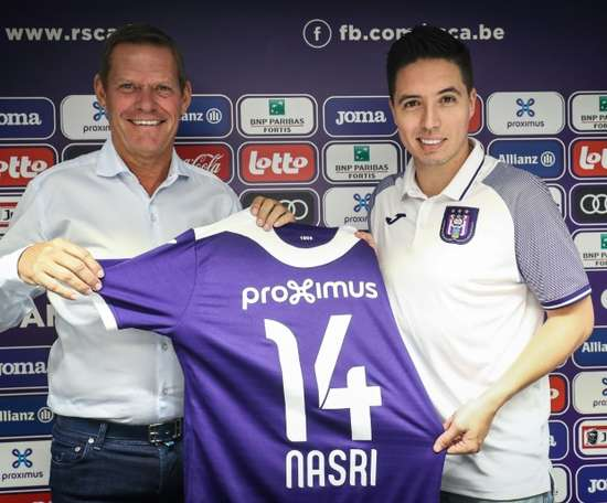 Nasri is at Anderlecht to help the next generation of footballers. AFP