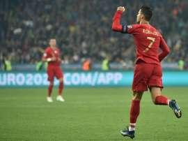 Cristiano Ronaldo va très bien avant la Lituanie. AFP