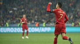 Cristiano repasó lo mejor de sus 700 goles. AFP