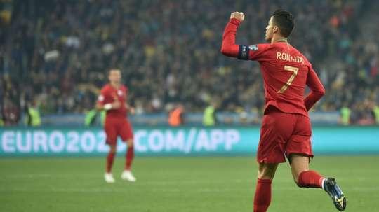 Les 5 meilleurs buts de Ronaldo avec le Portugal. AFP
