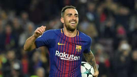 Alcacer has struggled at Barcelona. AFP