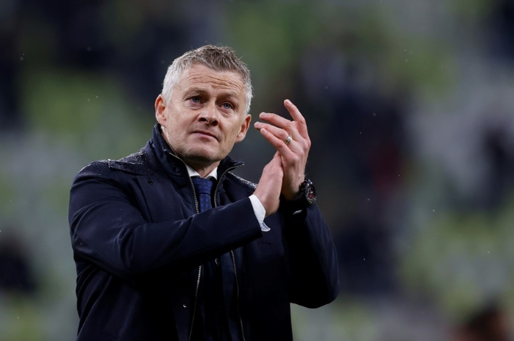 Solskjaer has extended his contract with Man United. AFP