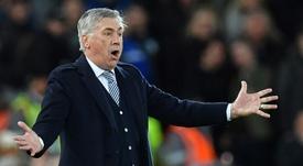 Ancelotti se mide al Arsenal en el Emirates. AFP