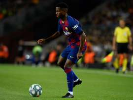 Ansu Fati pode desfalcar o Barça contra o Real Madrid. AFP