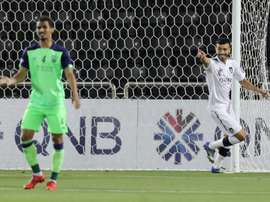Boualem Khouki bagged a brace. AFP