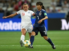 Georgia Stanway against Japan. AFP