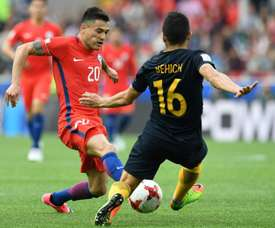 Charles Aranguiz is a doubt for Chil's game against Portugal. AFP