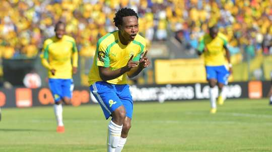 Percy Tau could soon be signed by Brighton. AFP