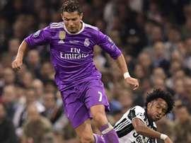 Ronaldo has taken the number 7 shirt off Cuadrado. AFP