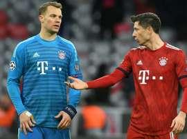 Lewandowski is backing Neuer. AFP