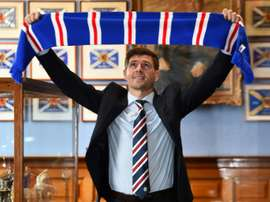 Gerrard signed a four-year contract at Rangers. AFP