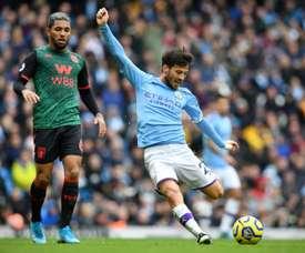 Silva é dúvida contra o Liverpool. AFP