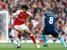 Mohamed Elneny could be set to play at centre-back this season. AFP