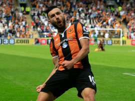 Robert Snodgrass, pictured on August 13, 2016, scored his first for Scotland on 10 minutes with a miscued cross