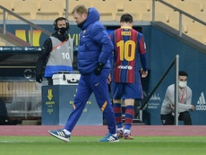 Lionel Messi was sent off for the first time playing for Barcelona. AFP