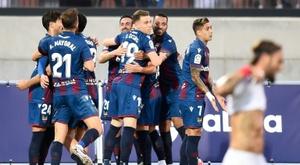 Sevilla drew 1-1. AFP