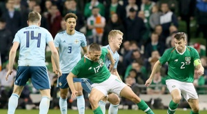 The Republic of Ireland were booed off after their 0-0 draw at home to Northern Ireland. AFP