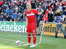 Schweinsteiger currently plays for Chicago Fire. AFP