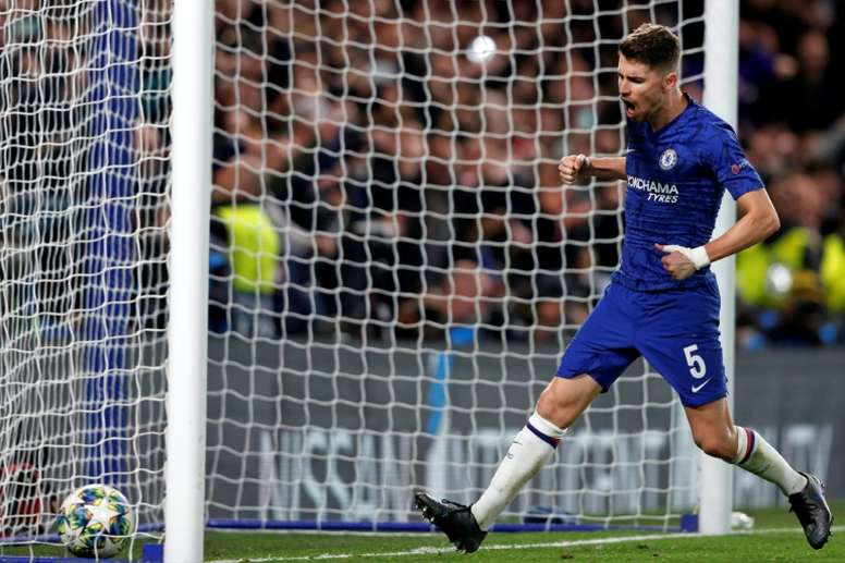 Jorginho scored twice from the spot in Chelsea's thrilling draw with Ajax. AFP