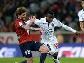 O jovem médio de 22 anos vai prosseguir a carreira noutra equipa da Ligue 1. AFP