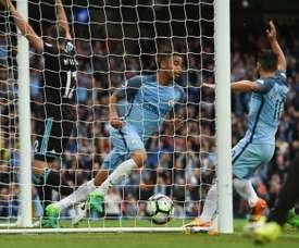 El City se acerca a la Champions tras este triunfo. AFP