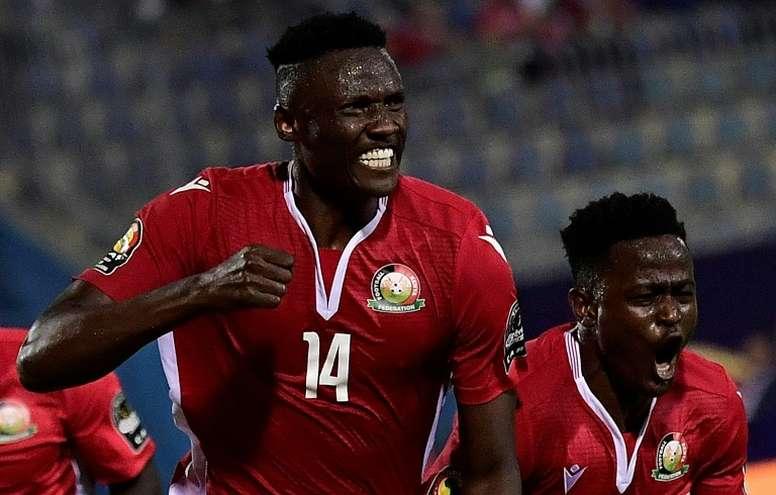 Olunga's goals carried Kenya to a crucial win over Tanzania. AFP