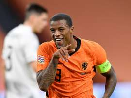 Georginio Wijnaldum is a target for Koeman. AFP