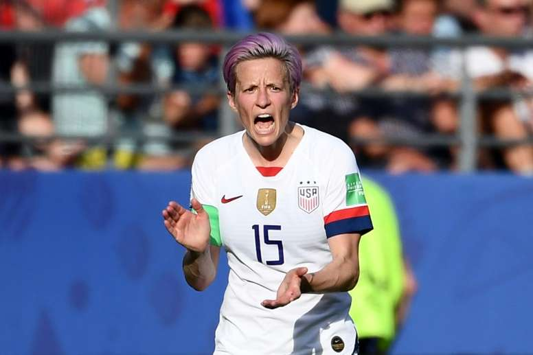 Rapinoe has been involved in a war of words with Trump. AFP